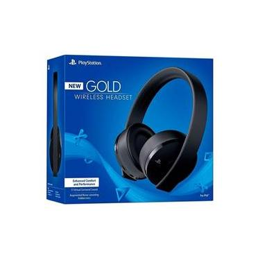 Headset Sony New Gold 7.1 Wireless - PS4 e PS4 VR