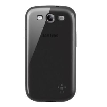 Capa p/ Samsung Galaxy S3 Belkin Grip Sheer Preta F8M398TTC00