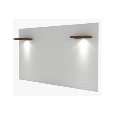 Painel com LED Santana 1,80 MT (LARG) em MDF cor Branco e Caramelo UV - 48672 Sun House