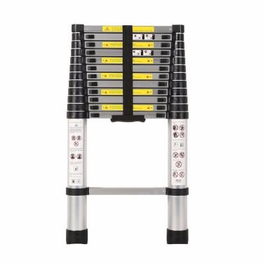 Escada Telescópica Multifuncional Alumínio 13 Degraus 3.8M - Kme1038