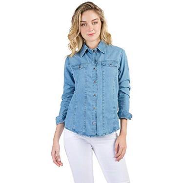 1f6a438bc302e Camisa, Camiseta e Blusa Manga Longa Jeans   Moda e Acessórios ...