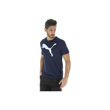 Camiseta Puma Ess Active Big Logo - Masculina - AZUL ESC BRANCO Puma 67a1c2de4c61c
