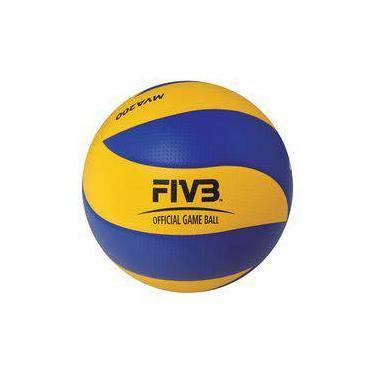 4d2818e6d6f61 Bola De Voleibol Mikasa MVA200 Size 5 Azul E Amarelo