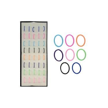 Piercing De Nariz Argolinha Argola em Silicone - 80 Unidades - Colorido