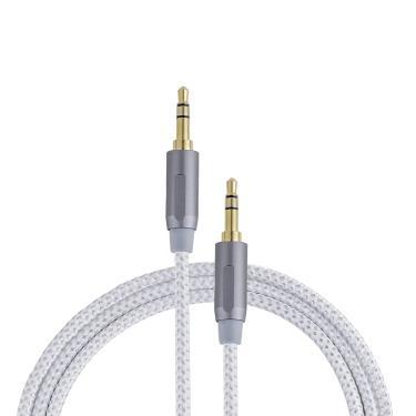 Cabo de Áudio Stereo P2 Sumay Premium SM-CASP2 3.5mm 1,2 Metros - Cinza