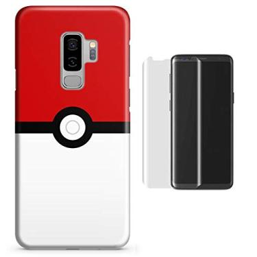 Kit Capa Case TPU Galaxy S9 Plus Pokeball + Película de Vidro (BD01)