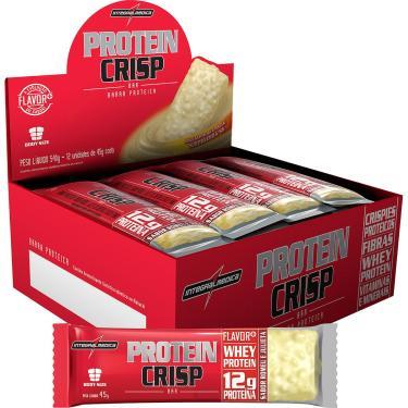 Protein Crisp Bar 12Barras  45Gr - Integralmédica - Peanut Butter