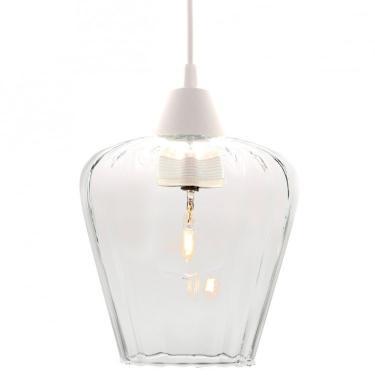 Pendente Canelado para 1 Lâmpada Layla P Taschibra Transparente