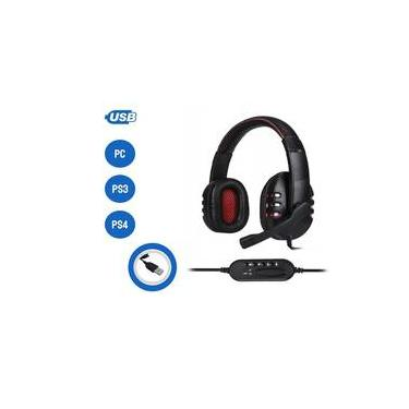 Headset Fone de Ouvido Gamer Fone Microfone 7.1 USB 2.0 Led Lateral Ps4 Ps3 Pc
