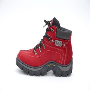 Bota Adventure Couro Esportes de Aventura Trivalle Shoes Vermelho  masculino