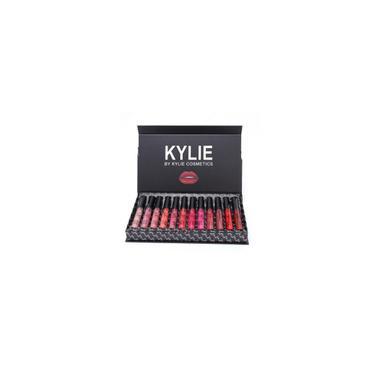 Kylie 12 cores portátil Matte Batom Kit Hidratação Lip Rouge Gift Set