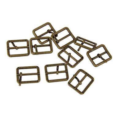 Colcolo Fivela de pino de metal retangular Tri Glide fivela deslizante bronze - bronze 1