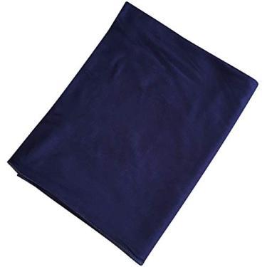 SOIMISS Lenço Étnico Bohemia Estilo Design Lenço Vintage Mulheres Lenço na Cabeça Pure Color Lenço na Cabeça Elástico (Azul marinho)