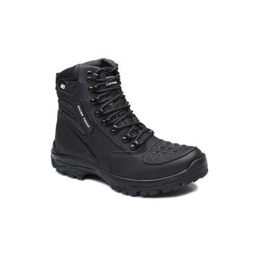 Bota Tatico Militar 100% Impermeavel Gogowear 100% Couro Ref Roadstar Cor Preto  masculino