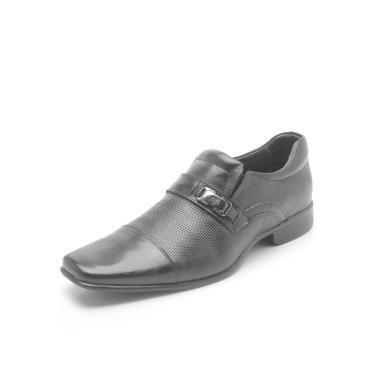 2ccc3bb3c Sapato Social Couro Rafarillo Texturizado Preto Rafarillo 34002-00P  masculino