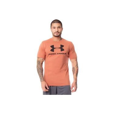 Camiseta Masculina Under Armour Sportstyle Marrom Claro