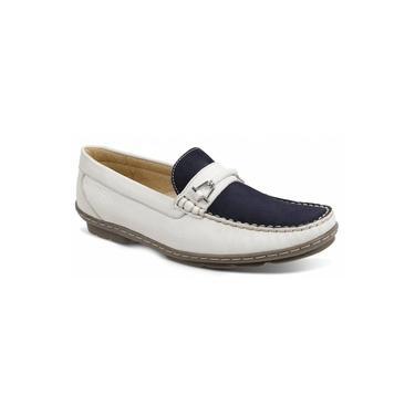 Imagem de Sapato Masculino Loafer Sandro Moscoloni New Picasso Branco/azul