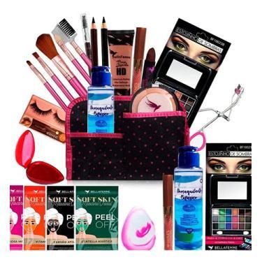 Imagem de Kit Maquiagem Pincel Completo Bella Femme 23 Itens (Pele Clara)