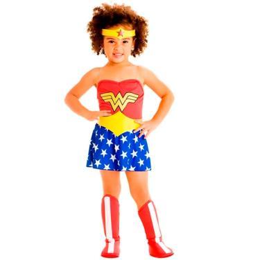 Imagem de Fantasia Mulher Maravilha Bebe Vestido Cinto e Bota 1 a 3 anos