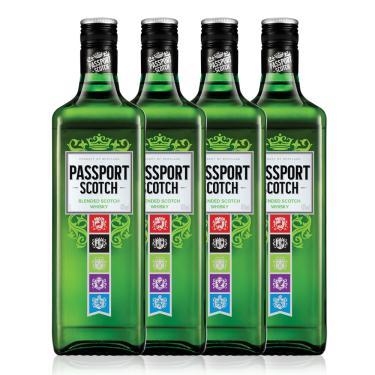 Kit Whisky Passport Scotch 1L - 4 Unidades