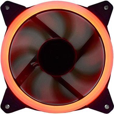 Cooler Para Gabinete K-mex 120 X 120 X 25 Af-q1225 Led Vermelho