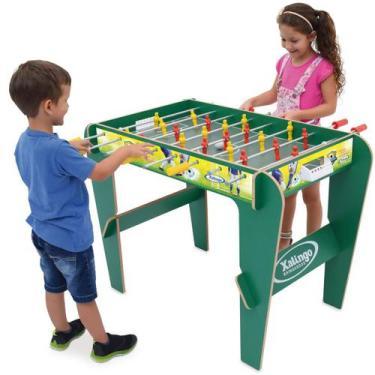 Imagem de Mini Mesa Pebolim Infantil Totó Pé Alto 77Cm 22 Jogadores - Xalingo