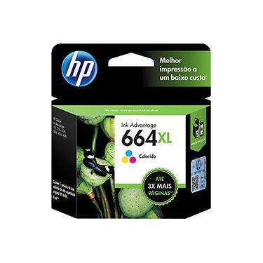 Cartucho HP 664 Colorido Original (F6V28AB) Para HP Deskjet 2136/ 2676/ 3776/ 5076/5276