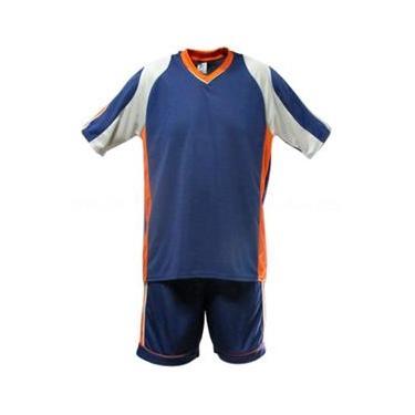 Uniforme Esportivo Texas 1 Camisa de Goleiro Florence + 7 Camisas Texas + 7 Calções - Marinho x Cinza x Laranja