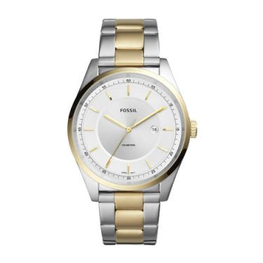 9795304b0a8 Relógio Fossil Mathis Masculino Prata e Dourado Analógico FS5426 1KN