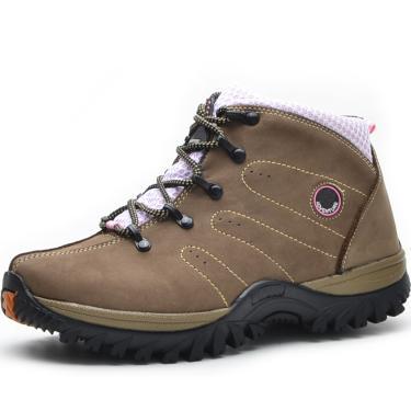 Bota Over Boots Adele Couro Bege  feminino