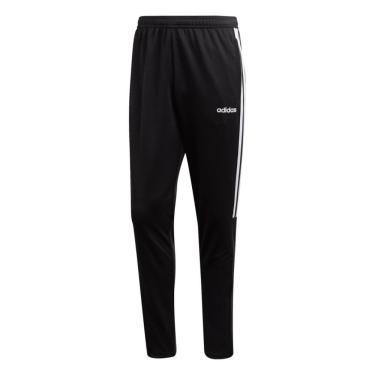 Calça Adidas Sereno e Listras Masculina DY3133, Cor: Preto/Branco, Tamanho: GG