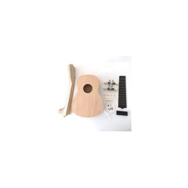 Ukulele de 21 polegadas kit faça você mesmo, guitarra havaiana, pintura artesanal, brinquedos musicais de madeira
