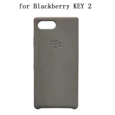 Caso de silicone macio original para blackberry key 2 cinza-verde capa traseira do telefone escudo