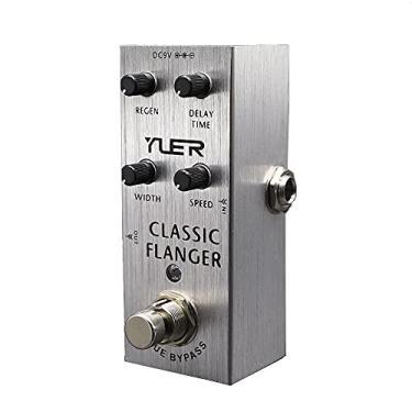 Imagem de Electric Guitar Effects Pedal Classic Flanger Regen Delay Time Width Speed True Bypass Silver