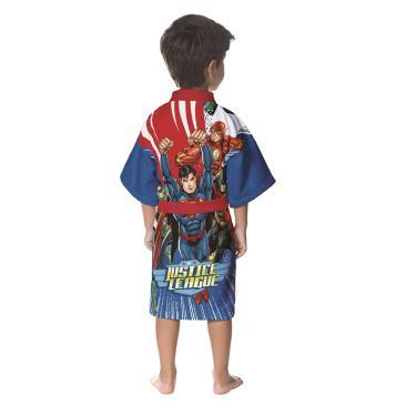 91c57d06f roupão infantil lepper aveludado quimono transfer bordado liga da justiça P
