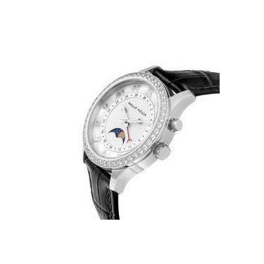 373a2760fc5 Relógio Feminino Phillip Kollin Cartagena Silver ZY28118Q Couro