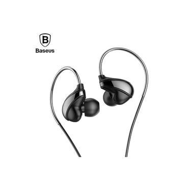 Fone De Ouvido Digital Hi-Res Audio Earphone Stéreo Premium High Quality Sport Baseus H05 Preto
