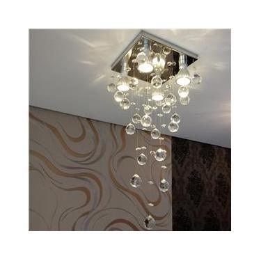 Lustre para sala de jantar com 50cm de altura em cristais legítimos k9