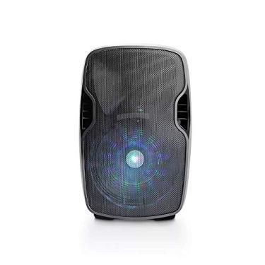 Caixa Amplificadora Bluetooth 500W Fm + Microfone Sem Fio Multilaser - SP263