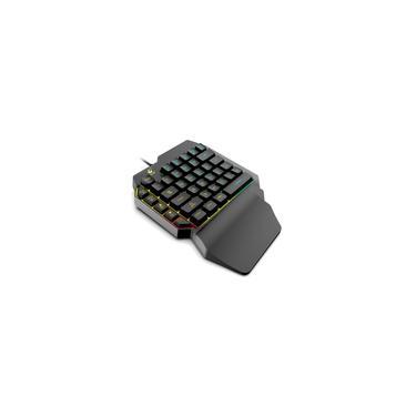 Pistola de teclado One-Handed Trono de Dios Izquierda sienta juego Teclado mecánico