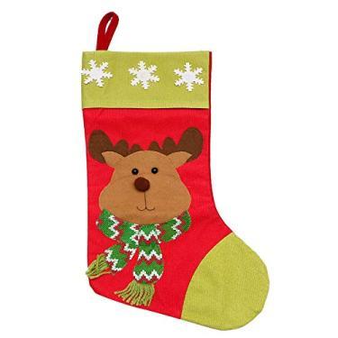 VOSAREA Saco de doces decorativo criativo adorável tema de Natal saco de doces bolsa de presente para meninos e crianças