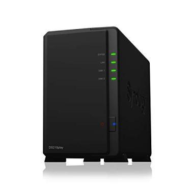 Servidor NAS DiskStation 2 Baias, Synology, HD Externo, Preto, 1