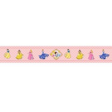 Faixa Papel De Parede Adesivo Infantil Princesas 100x15cm - Lcg Eletro