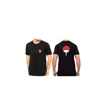 Camiseta Naruto Sasuke Clã Uchiha Melhor Qualidade
