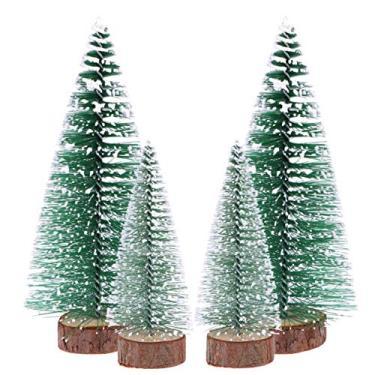 Amosfun 6 peças Mini Bastão de Árvore de Natal Durável Pequeno Árvore de Natal Colar de Natal Enfeite de Cedro Branco Enfeite de Natal