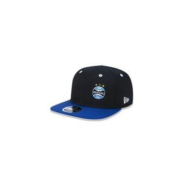 Bone 9fifty Aba Reta Aberto Original Fit Gremio Futebol Aba Reta Snapback Preto/azul New Era