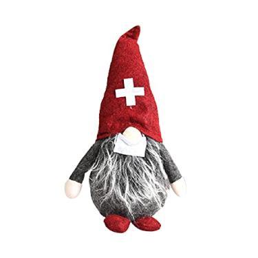 Imagem de Boneca de pelúcia anã sem rosto, tema de enfermeiros médicos, gnomos de pelúcia, enfeite de janela de boneca sueca tradicional para carro de Natal e casa