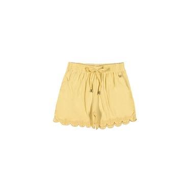 Shorts Infantil Elastico Amarelo Colorittá Amarelo 4