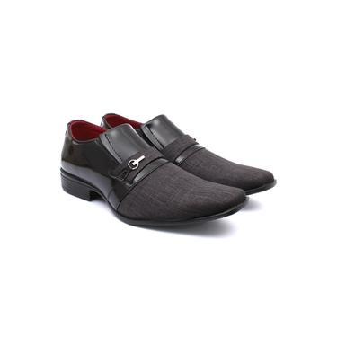 Sapato Social Renovally Preto e Chumbo