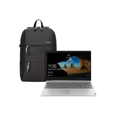 "Notebook Lenovo Ideapad S145 8ª Intel Core I5 8GB 1TB HD 15,6"" W10 Prata + Mochila Targus 15,6"" Intellect Plus"